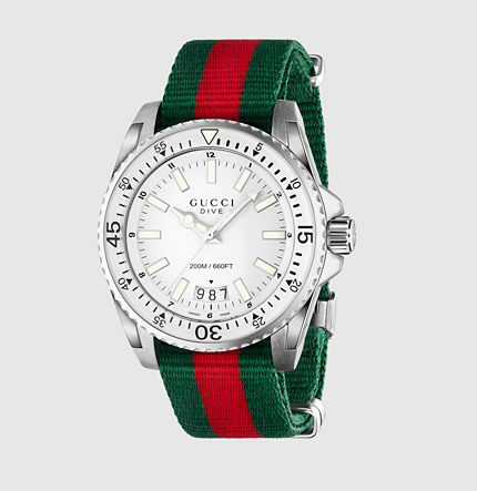 Gucci men's dive web watch