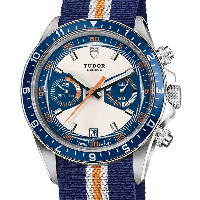 Front of Tudor Heritage Chrono Blue