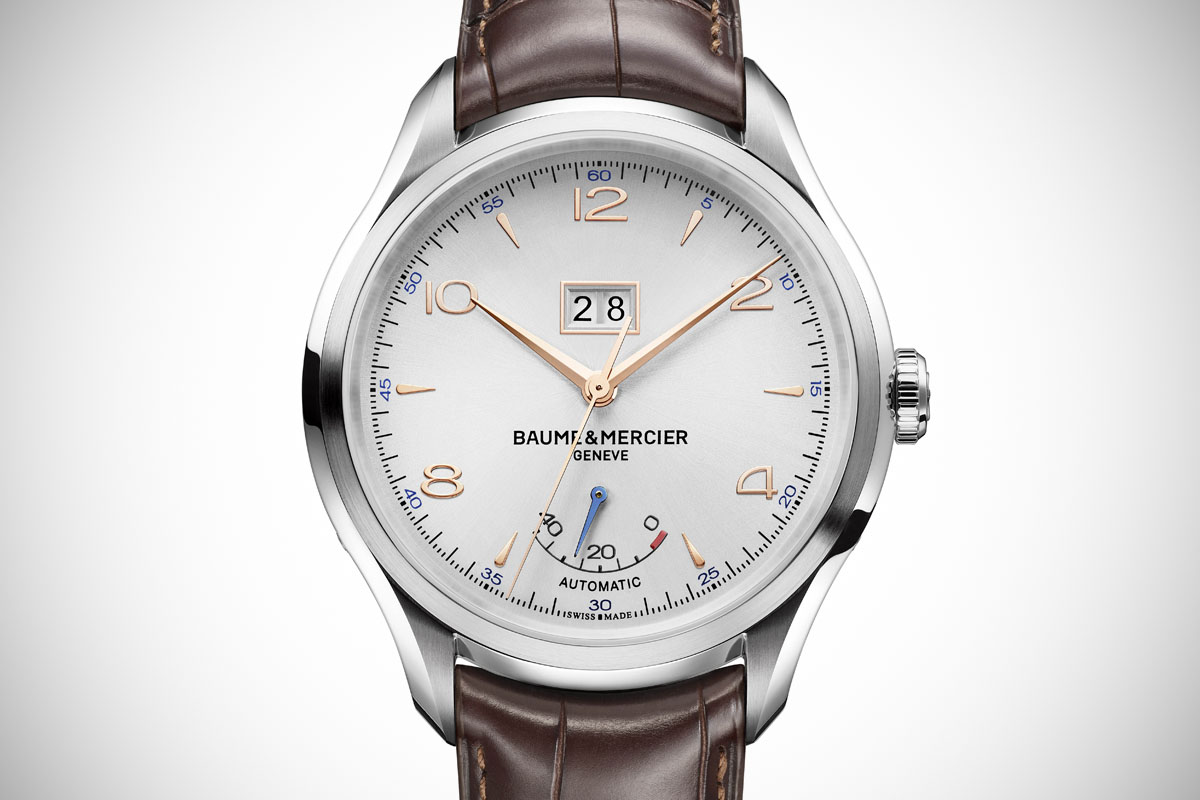 Front of Baume & Mercier Clifton Automatic Big Date And Power Reserve watch