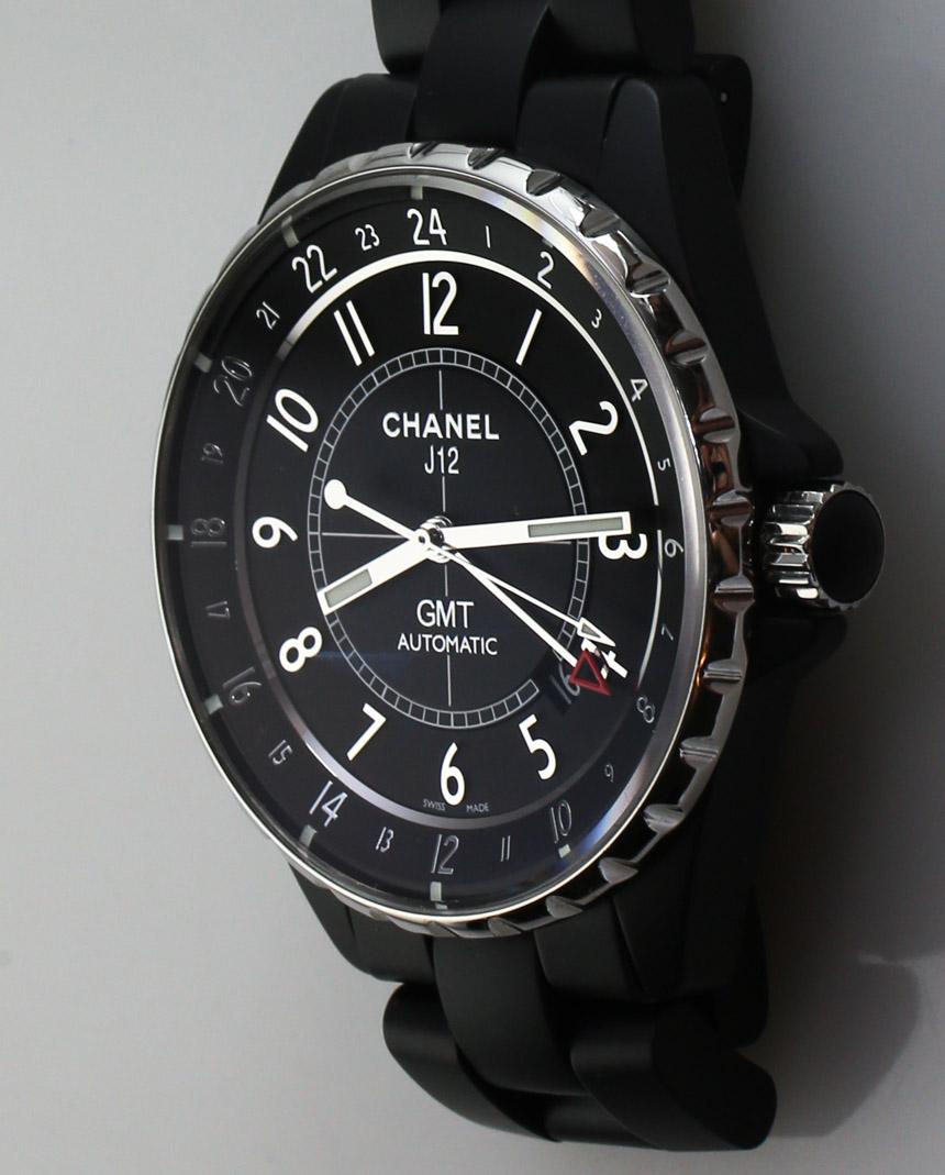 Side of Chanel J12 GMT Matte fashion watch