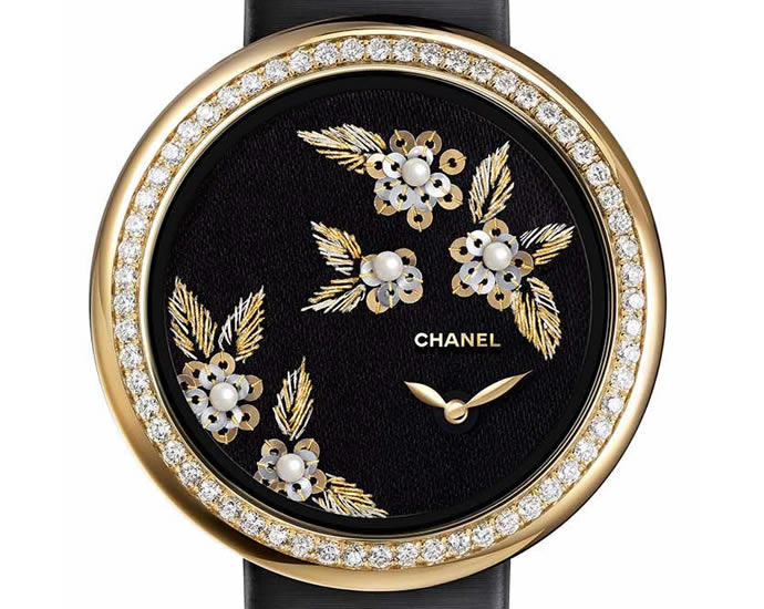 Chanel New Embroidered Mademoiselle Prive Camelia ladies watch