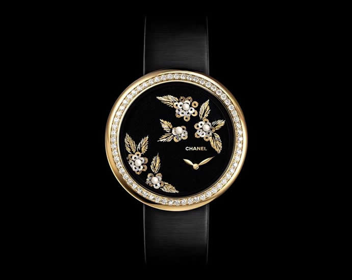 Chanel New Embroidered Mademoiselle Prive Camelia ladies watch 02