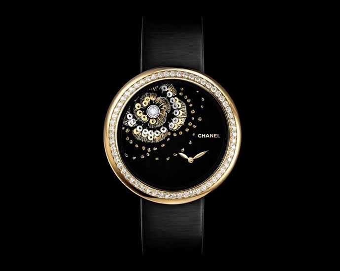 Chanel New Embroidered Mademoiselle Prive Camelia Watches
