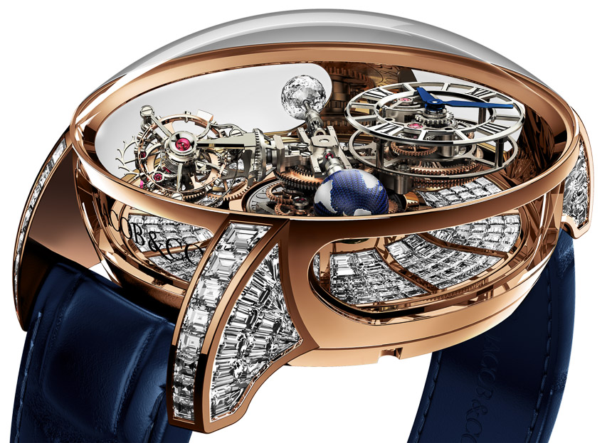 Side of Jacob & Co. Astronomia Tourbillon Baguette watch 03