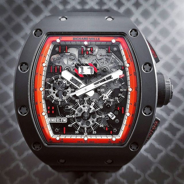 637042eb6d0 Perfect Driving Watch-Richard Mille RM 011 Felipe Massa Black Night ...