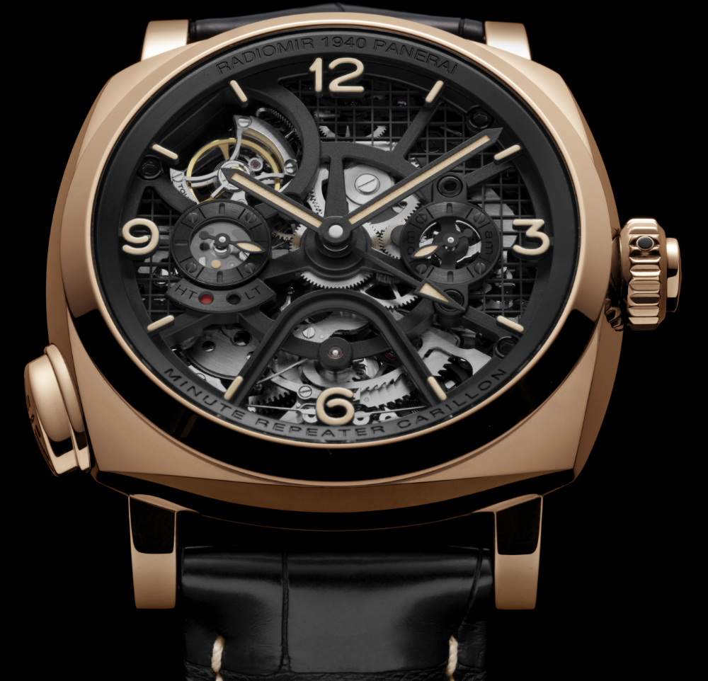 88eb5d50d10 Front of Panerai Radiomir 1940 Minute Repeater Carillon Tourbillon GMT