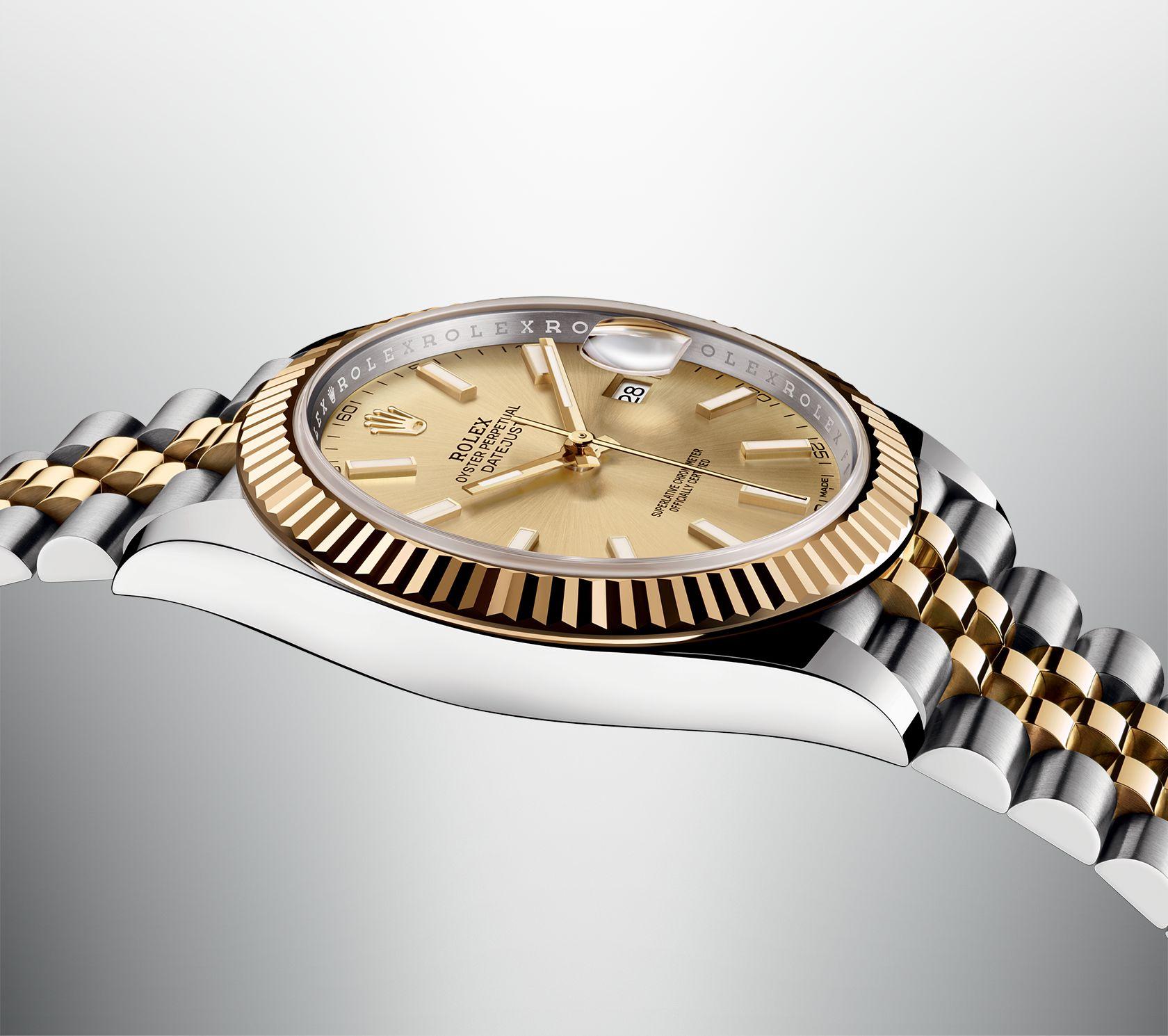 Zijde van Rolex Datejust 41