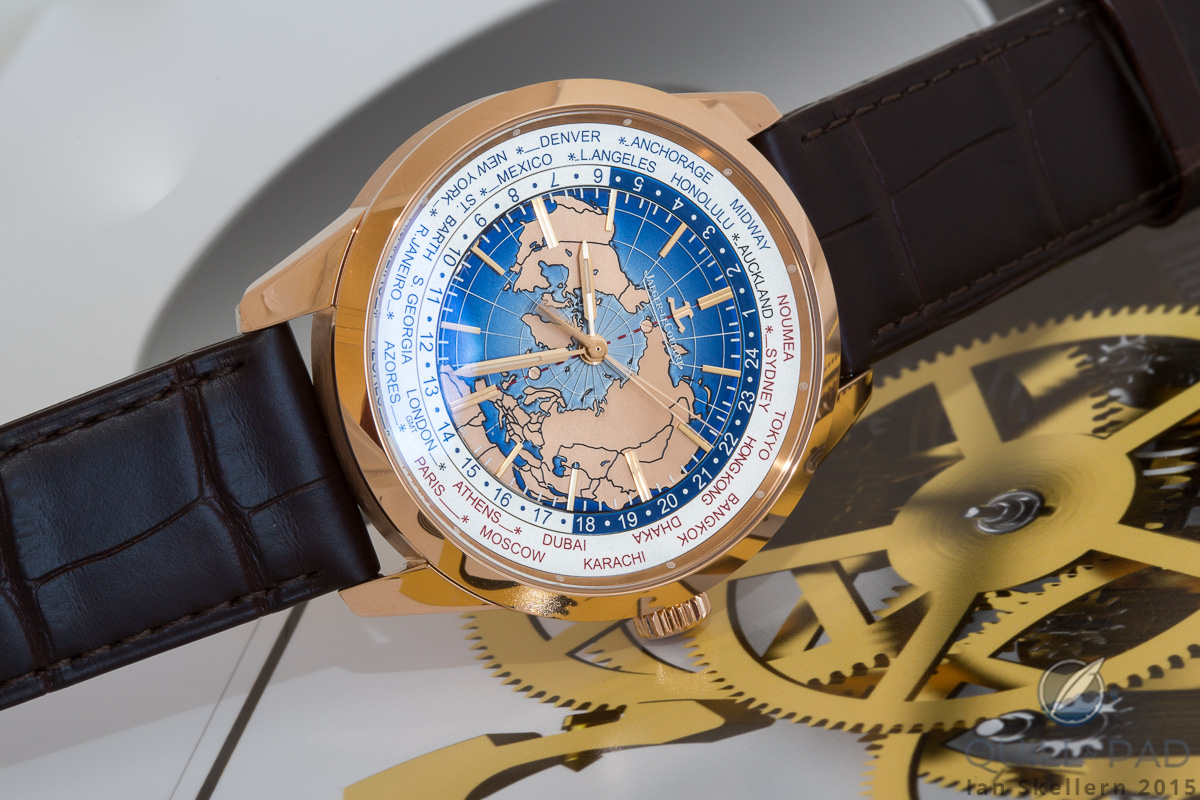 New superb jaeger lecoultre geophysic universal time watch swiss jaeger lecoultre geophysic universal time rose gold version hands on gumiabroncs Image collections