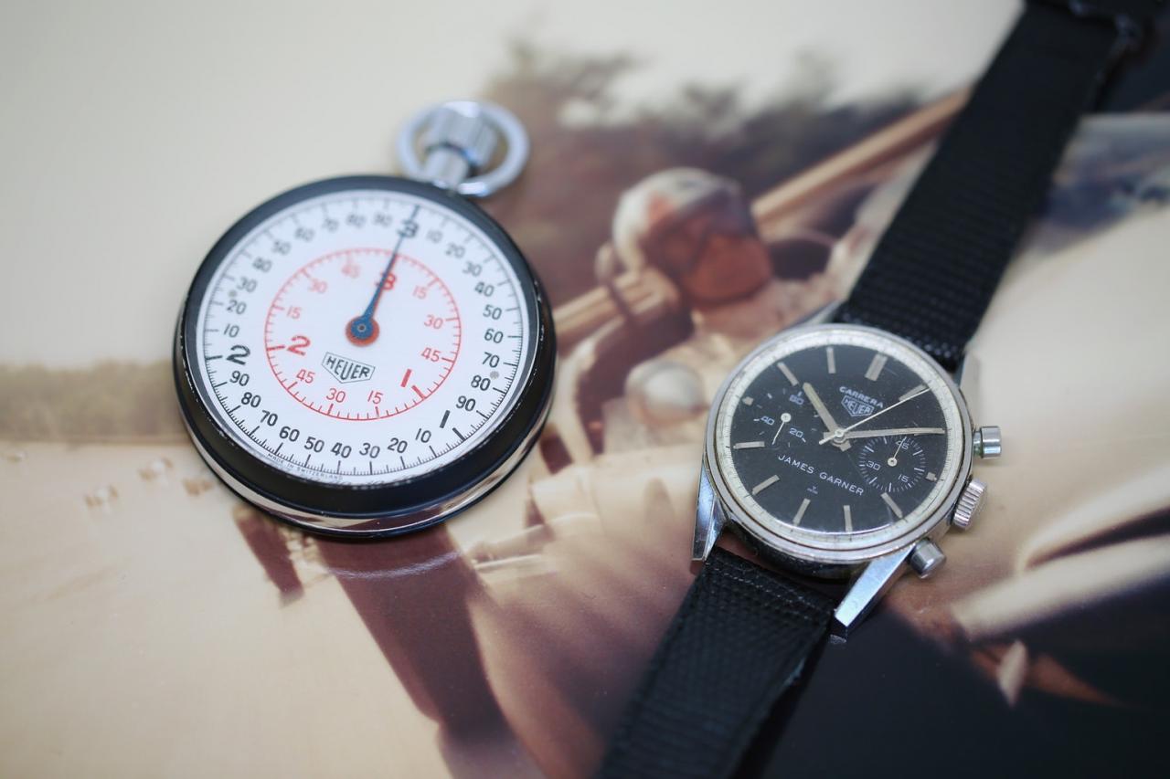 James Garner Heuer Stopwatch