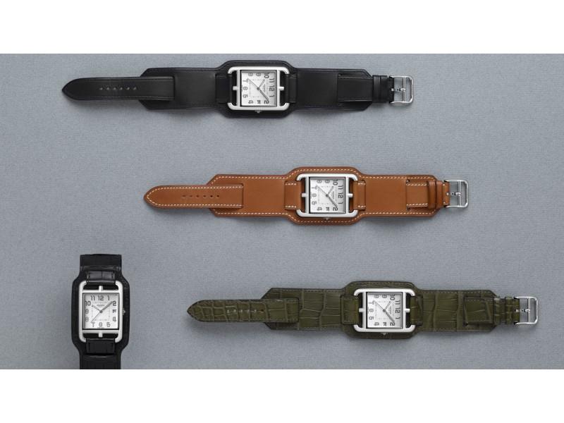 fdaf43c2d Hermès Cape Cod TGM cuff strap Designed for men, the Cape Cod Bracelet de  force combines a traditional strap with a cuff.