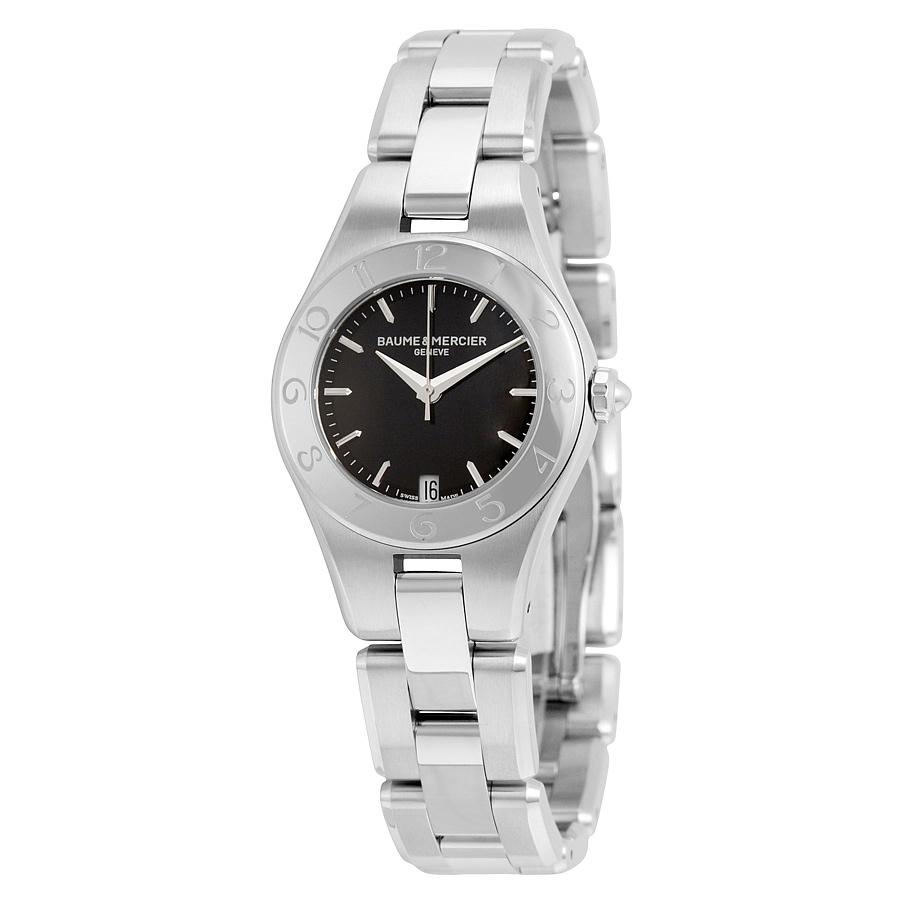 Baume Mercier stainless steel solid case back watch
