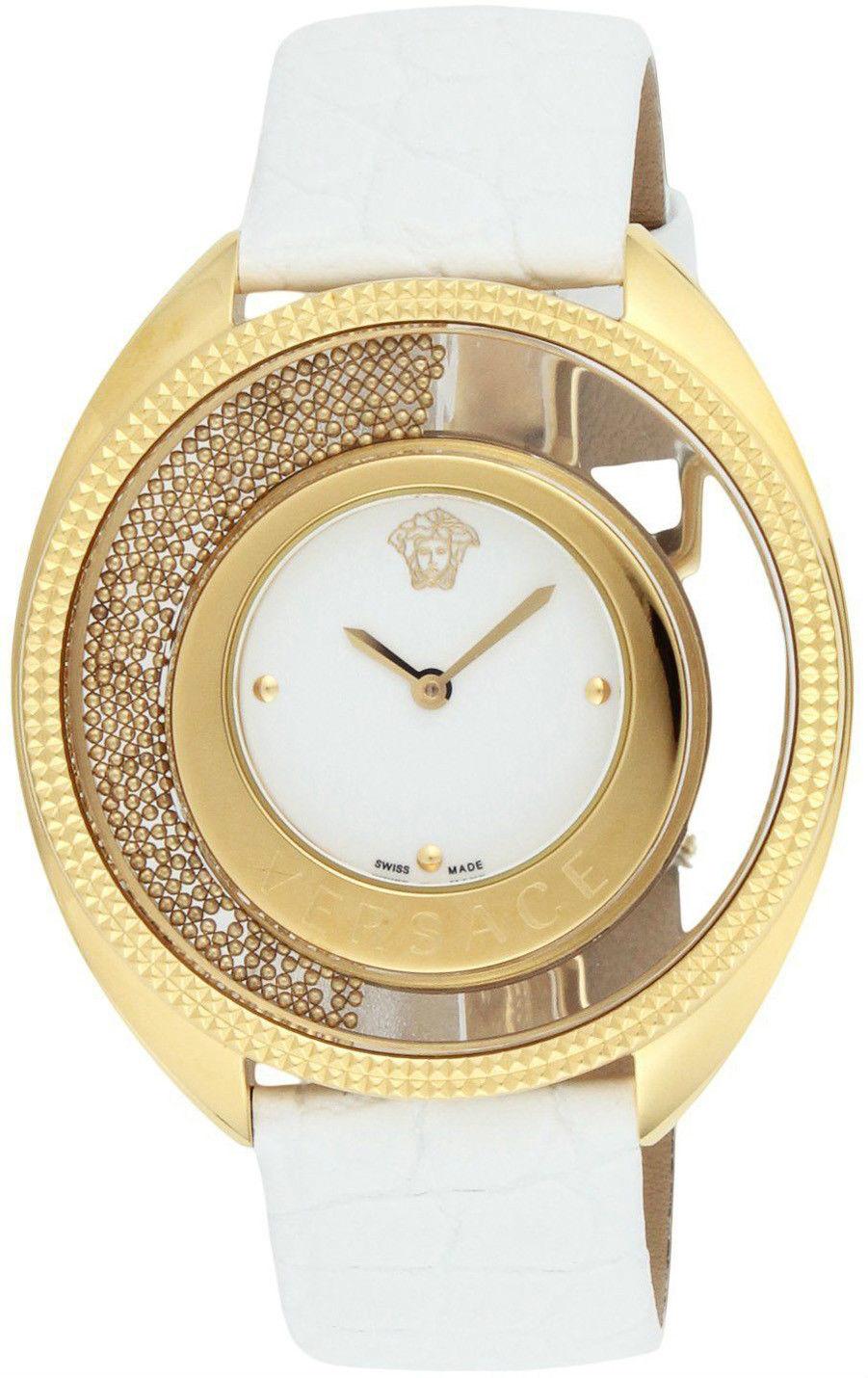 Front of Versace Destiny Spirit Micro Spheres White watch