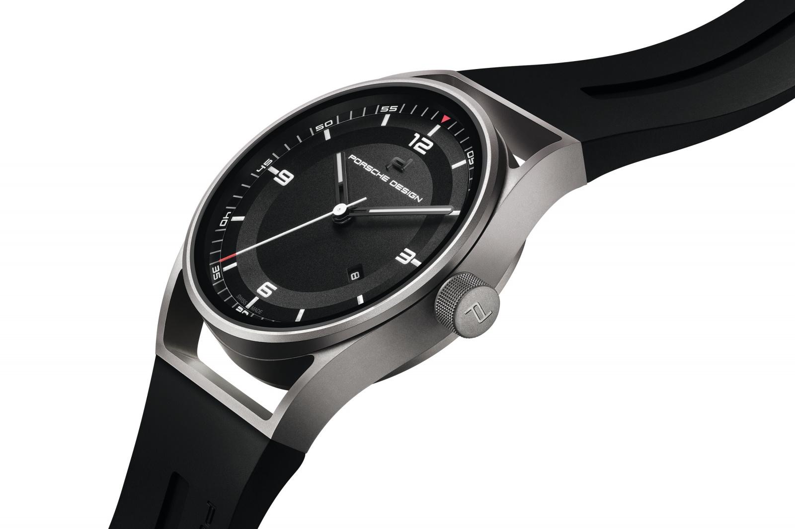 Side of front of Porsche Design 1919 Datetimer Series 1 watches
