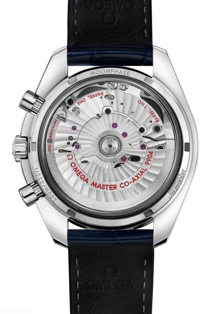 Omega Speedmaster Moonphase Chronograph Master Chronometer caseback