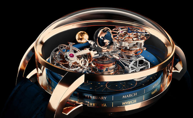 Jacob & Co. Astronomia Sky Celestial Panorama Gravitational Triple Axis Tourbillon complicated watch