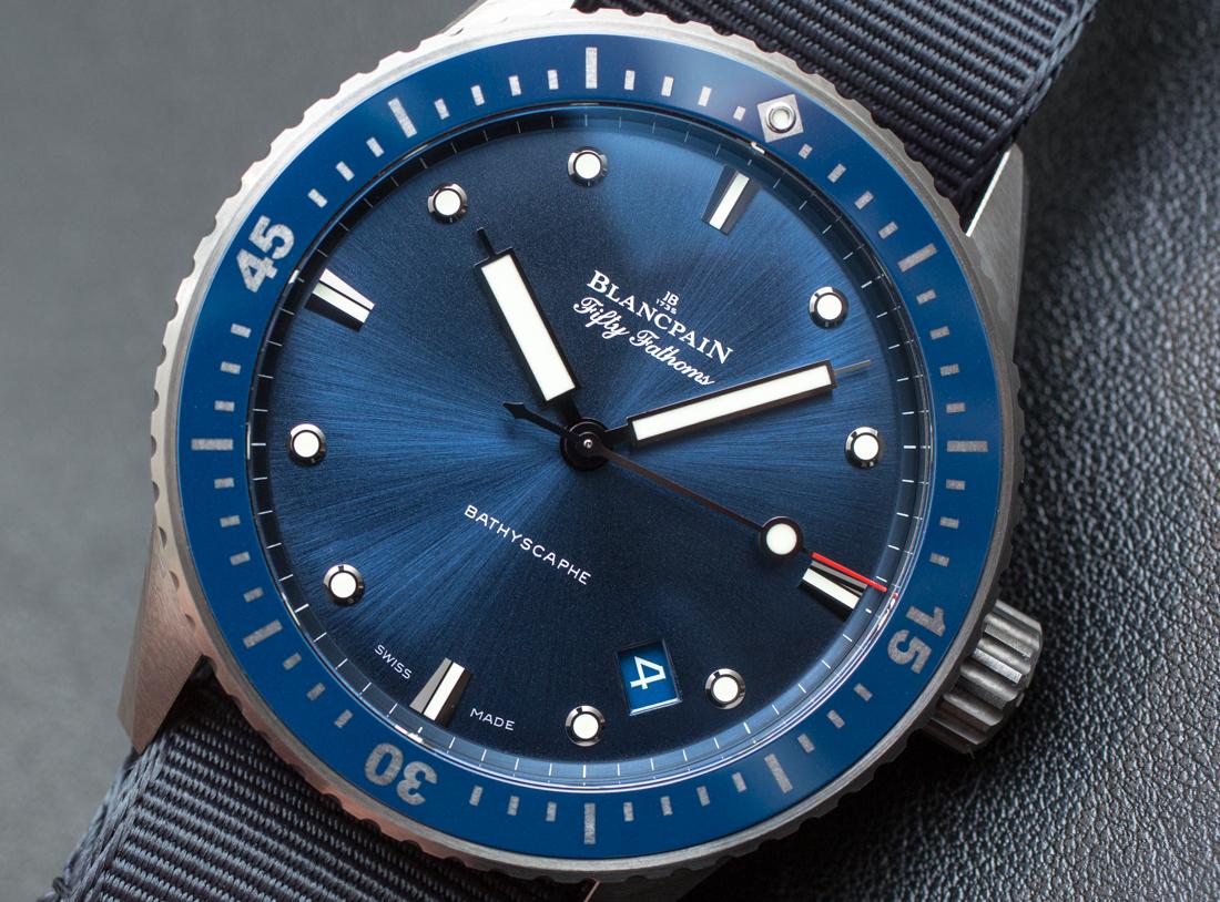 Blancpain Fifty Fathoms Bathyscaphe Blue & Ceramic Watch Hands-On Hands-On